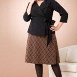 Модели юбок для полных из трикотажа